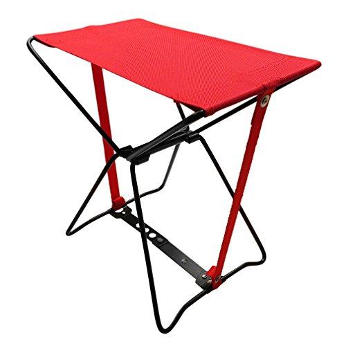 Evelots-Sedia da campeggio portatile, misura tascabile Event-Sgabello con custodia di trasporto, colore: rosso
