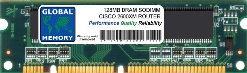 GLOBAL MEMORY 128 MB DRAM SODIMM RAM für Cisco 2600 X M Series Router (Cisco P/N MEM2600 X m-128d) (Cisco 2600)