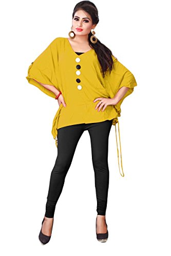 J B Fashion women's cotton and YELLOW kurti (W-DOUBLE-B-10-35-XL-YELLOW)  available at amazon for Rs.699