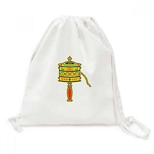 DIYthinker Buddhismus Religion Gebet-Rad Sanskrit Canvas-Rucksack Reisen Shopping Bags