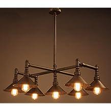 GFFORT lampadario a bracci d'acqua creativa settore della ristorazione americana ferro lampadario bar epoca lampadario, diametro 89 centimetri di altezza 105 centimetri, 220v, E27