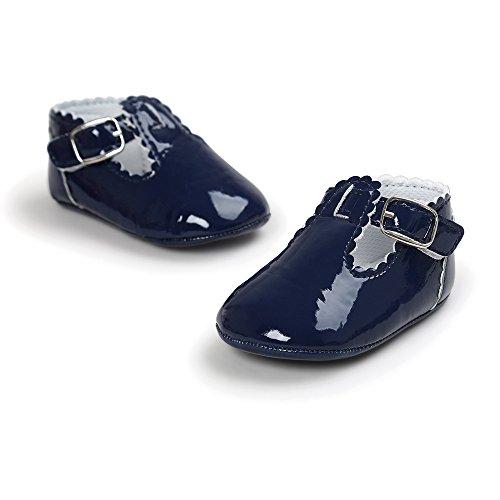 ♥ Loveso ♥ Baby Shoes Schuhe Baby Buchstabe Prinzessin weiche alleinige beiläufige Kleinkind Turnschuh Schuhe Marineblau