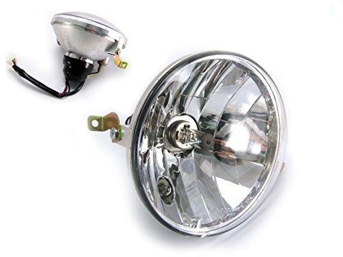 Hochwertig Roller Scheinwerfer Passend für Px 125/150/200 inklusive Halogenlampe - Gekennzeichnet - Für Roller Scheinwerfer