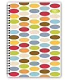 2015-2016 A5 Colourful Ovals Mid-Year Academic Wiro Diary Week To View 3899