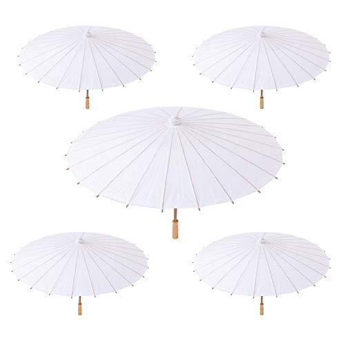 Weiß, aus Papier und Bambus, für Ihre Veranstaltungen im Freien (Hochzeit, Taufe, Party, Abendveranstaltungen etc.) ()