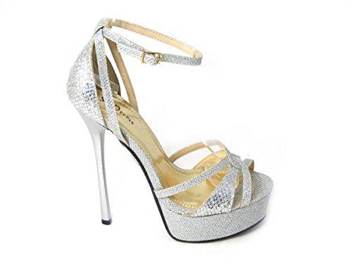SKO'S , Sandales pour femme Silver (92478-4B)