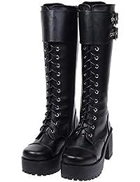 Mujer es Para Punk Y Amazon Zapatos Zapatos Botas 7ax1qqSwH 63cf30ba535