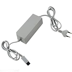 WICAREYO AC Netzteil Ladegerät EU Stecker Kabel für Wii Konsole System