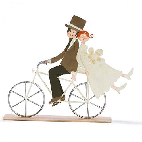 Brautpaar auf Fahrrad 25 x 25 cm Hochzeitspaar Hochzeit Wedding Eheglück Metall - Fahrrad Hochzeit