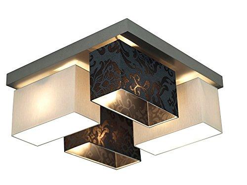 Exclusivo, lámpara de techo, techo joyas en un bar de madera con las dimensiones de 45x 45cm Esta linterna aplica particularmente prächtig de salón o dormitorio. La barra de madera proyector es strettamente al techo. L 'Altura entera de la lámpara ...