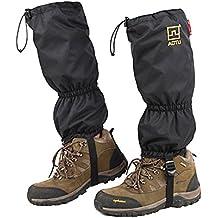 JTENG Polainas Impermeable al Aire Libre y Polainas Prueba de Viento Guardia de Protección para Las Piernas Senderismo Esquí Escalada