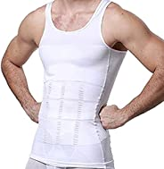 Mens Slimming Tank Top Body Shaper Compression Shirts for Men Slim Undershirts Abs Vest for Workout Abdomen, W