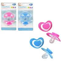 Brand new twin pack Baby Dummies Soothers Silicone Orthodontic Teat 0+mths (assorted Color)