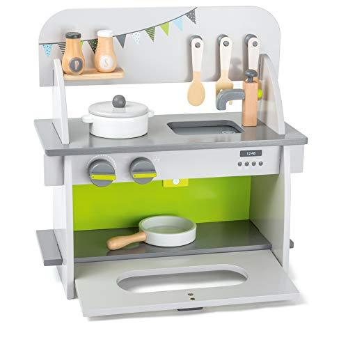 Small Foot 11158 Kinderküche Kompakt Aus Holz, FSC 100% Zertifiziert,  Drehknöpfe Machen