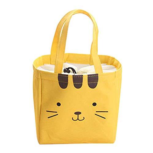 Provide The Best Cartoon Bear Cat Kaninchen Leinwand Mittagessen Taschen Kinder Thermal Handtasche Lebensmittel Insulated Tote (Beste Leinwand Tote Taschen)