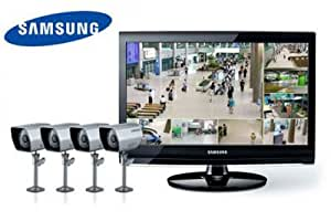 samsung video berwachung set 8 kanal dvr im 22 monitor 4 berwachungskameras sme 4220p. Black Bedroom Furniture Sets. Home Design Ideas