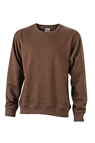 James & Nicholson Herren Workwear Sweat Sweatshirt, Braun (Brown), XX-Large (Braun Sweatshirts Für Männer)