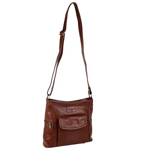 Mesdames Tan brun sac à bandoulière en cuir Sac à main bandoulière par Gorjus