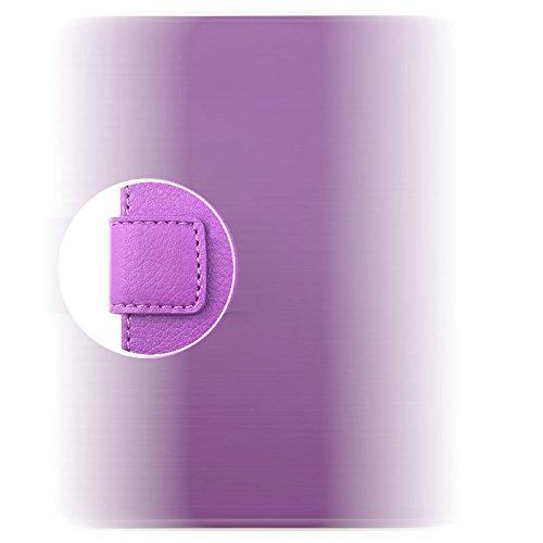 Locaa(TM) For Apple IPhone SE IPhoneSE 5SE 3D Bling Case Coque Fait Main Cuir Qualité Housse Chocs Retour Bumper Cadeaux Noël Cas Couverture Protection Cover Shell [Série Couleur 2] Panda 1 - Blanc Lune - Violet