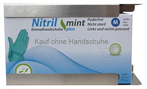 Edelstahl Handschuhhalter Edelstahlspender Einmalhandschuhe Medi-Inn (1-fach medium) - Medium Wandhalterung