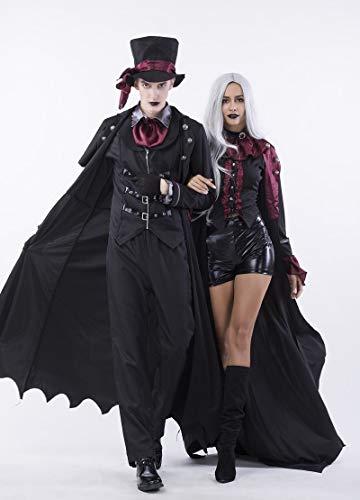 (GYH Frauen Männer Bekleidung Halloween Film Cosplay Hexe Vampir Kostüm Earl Paar Tragen Party,L)