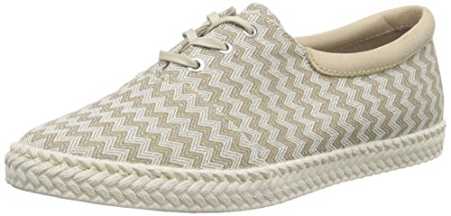 ESPRIT Silvana Lace Up, Damen Sneakers, Beige (250 Khaki Beige), 39 EU (Lace Khaki Beige Up)
