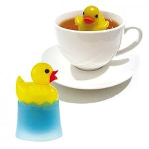 Viva-haushaltswaren boule à thé en forme de canard flottant avec support d'égouttement