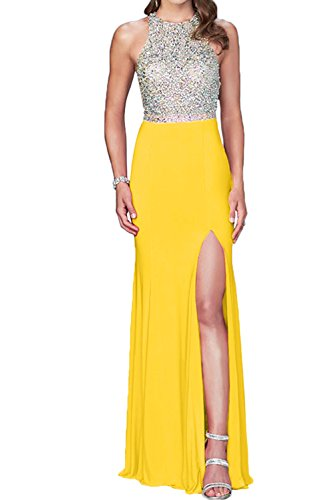 Toscana sposa donna cristallo due-Traeger Chiffon sera lungo Party Ball Bete un'ampia vestimento golden