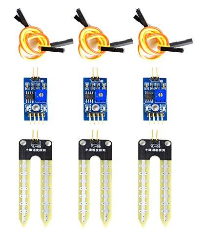 MissBirdler 3X Feuchtigkeitssensor Blumenerde Hygrometer f. Arduino Raspberry Pi YL-69 SBT4447