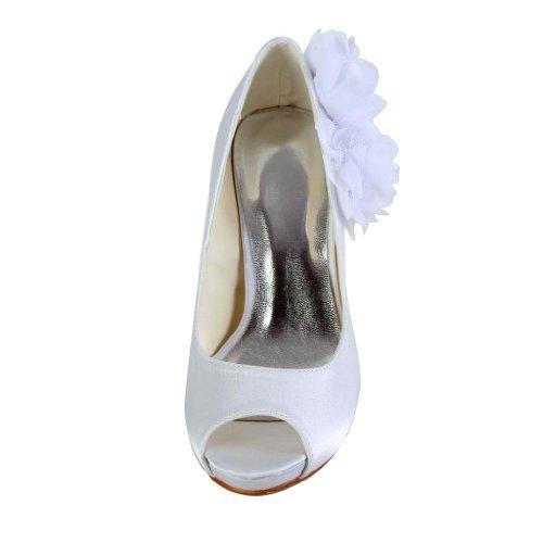 Jia Jia Wedding 37012E Scarpe Sposa Scarpe col tacco donna Bianco