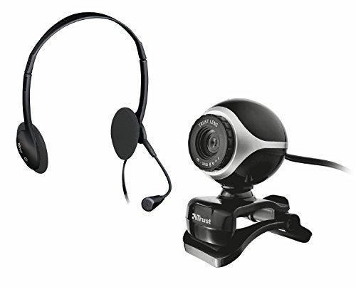 Trust Exis Chatpack Webcam + Headset schwarz