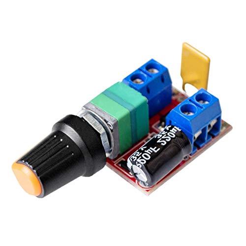 Fliyeong 5A Mini DC Motor Drehzahlregler Spannungsregler Dimmer 3V-35V Schalter Drehzahlregelung LED Dimmer Regler Schalt Build -
