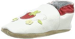 Beck Baby Mädchen Erdbeere Hausschuhe, Weiß (Weiß 01), 20 EU