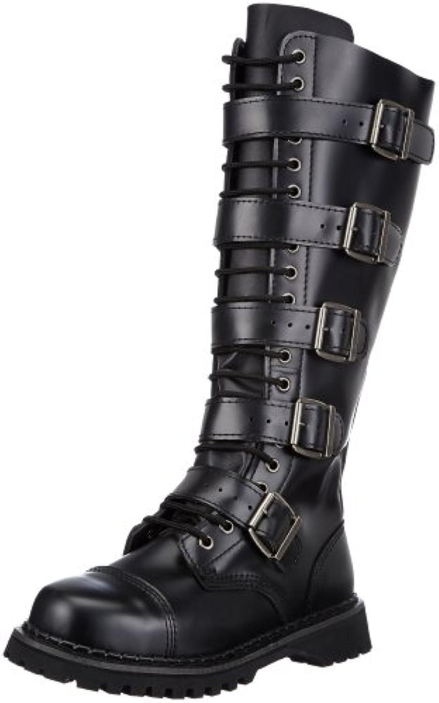 Demonia RIOT 20 Herren Combat BootsDemonia RIOT 20 Herren Schwarz Leather Billig und erschwinglich Im Verkauf