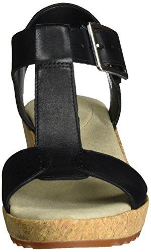 Clarks Kamara Kiki, Salomés Femme Noir (Black Leather)