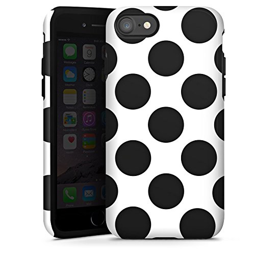 Apple iPhone X Silikon Hülle Case Schutzhülle Punkte Dots Rockabilly Tough Case glänzend
