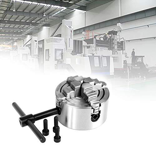 Drehfutter,Jectse K72-80 hochwertige Materialunabhängig einstellbar reversibel 80mm Durchmesser 4-Backen-Drehfutter für Drehmaschine