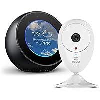 Amazon Echo Spot, Nero + EZVIZ ezCube Pro IP Telecamera di Sicurezza