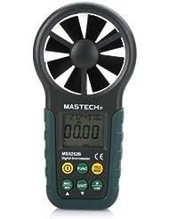 KKmoon Anémomètre numérique portable vent vitesse Air mesure Affichage température et humidité avec USB Data Télécharger et rétro-éclairage LCD