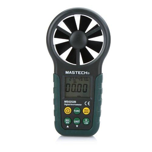 MASTECH Anemometro Digitale LCD Meter di Velocità del (Velocità Di Conversione)