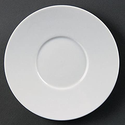 12X Olympia Whiteware Elegant Saucers 22X148mm Porcelain White Plate