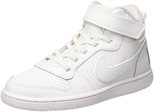 low priced d3bc5 6db9c Nike court borough mid (psv), scarpe da basket bambino, bianco white 100