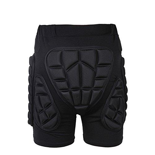 Tentock Erwachsene/Kinder Hüft-Schutz-Shorts 3D Kompression Schutzhosen Gepolsterte für Skater Snowboarder zum Skifahren Eislaufen(XL)