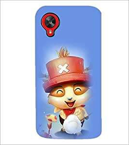 PrintDhaba Smiling Kitty D-2902 Back Case Cover for LG GOOGLE NEXUS 5 (Multi-Coloured)