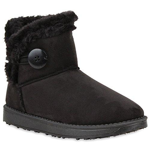 Damen Schuhe Schlupfstiefel Warm gefüttert Schwarz Braun