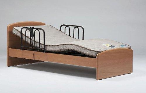 フランスベッド 家庭用介護ベッド イーゼルシリーズ イーゼル005F 1モーター、ワイヤーコントローラー    シングルサイズ ナチュラル色 フレーム+マットレスセット (非課税品)お客様組み立て