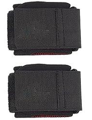 Soporte de muneca - TOOGOO(R) 2pzs Soporte de muneca de cierre desmontable envoltura neopreno negro ajustable