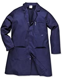 Portwest Hygiene & Warehouse Coat Multiple-pockets Vented Large Navy Ref 2852LGE Nvy