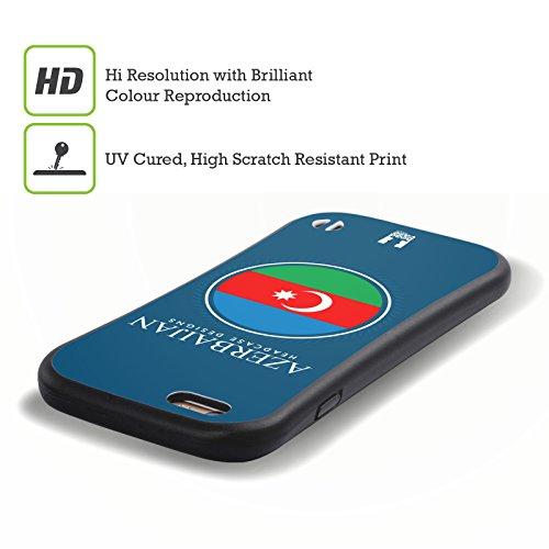 Head Case Designs Drapeau Canadien Drapeau Avec Armes Étui Coque Hybride pour Apple iPhone 6 / 6s Drapeau De L'Azerbaïdjan