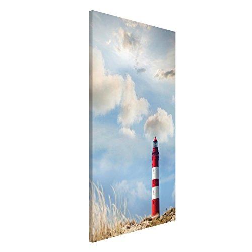 Bilderwelten Magnettafel - Leuchtturm in den Dünen - Memoboard Hoch 4:3, Größe: 40cm x 30cm